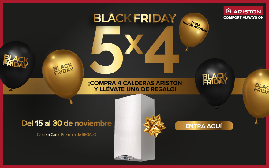 PROMOCIÓN BLACK FRIDAY ARISTON: 5 POR 4 EN CALDERAS