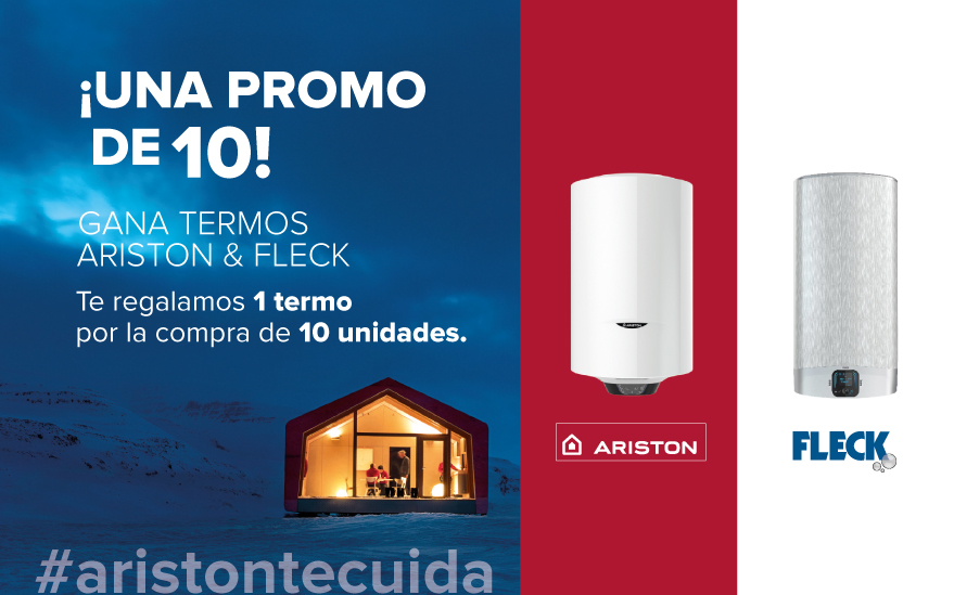 #ARISTON TE CUIDA: ¡UNA PROMO DE 10! GANA TERMOS ARISTON & FLECK