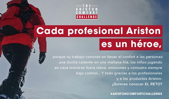 #Aristoncomfortchallenge - Cada Instalador Ariston es un Héroe